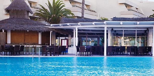 Restaurante Palapa del Hotel Hesperia Playa Dorada