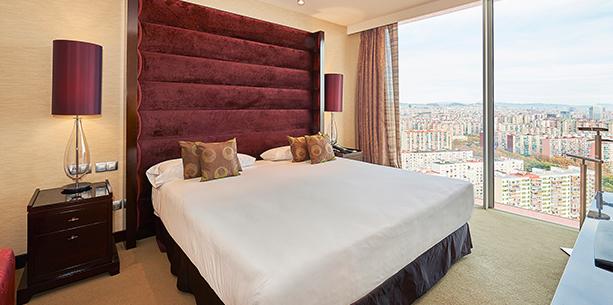 Habitación del Hotel Hesperia Barcelona Tower