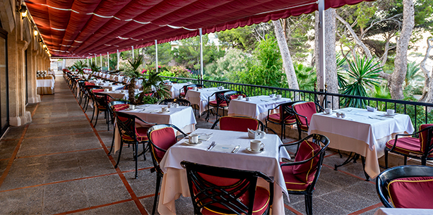 Restaurant Dragonera de l'Hotel Hesperia Mallorca Villamil