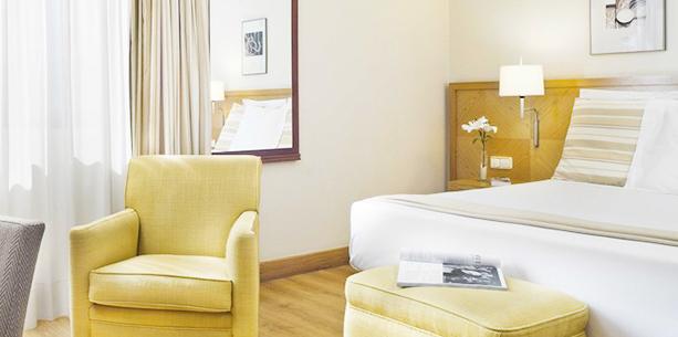 Habitación Standard con terrza del Hotel Hesperia Vigo