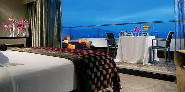 Habitación suite presidencial del Hotel Hesperia Barcelona Tower