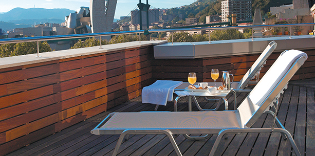 Balcón del Hotel Hesperia Bilbao