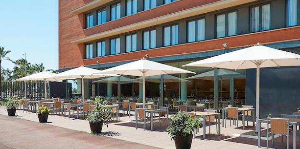 Restaurant de l'Hotel Hesperia Barcelona Del Mar