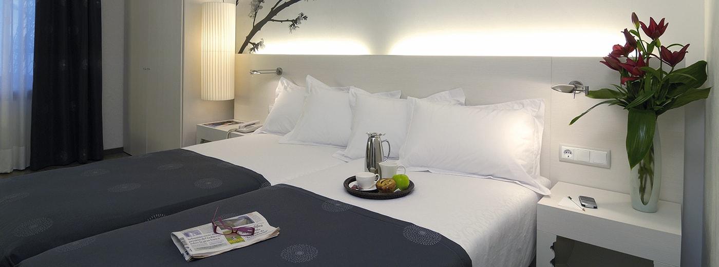 Hotel room Hesperia Ramblas Barcelona