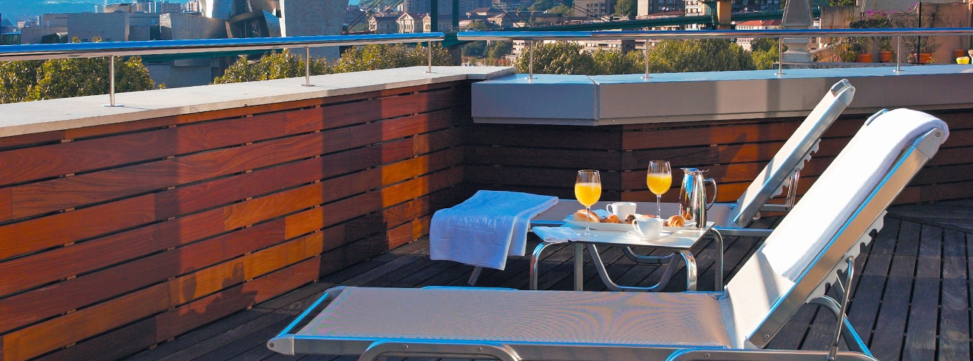 Terrassa de l'Hotel Hesperia Bilbao