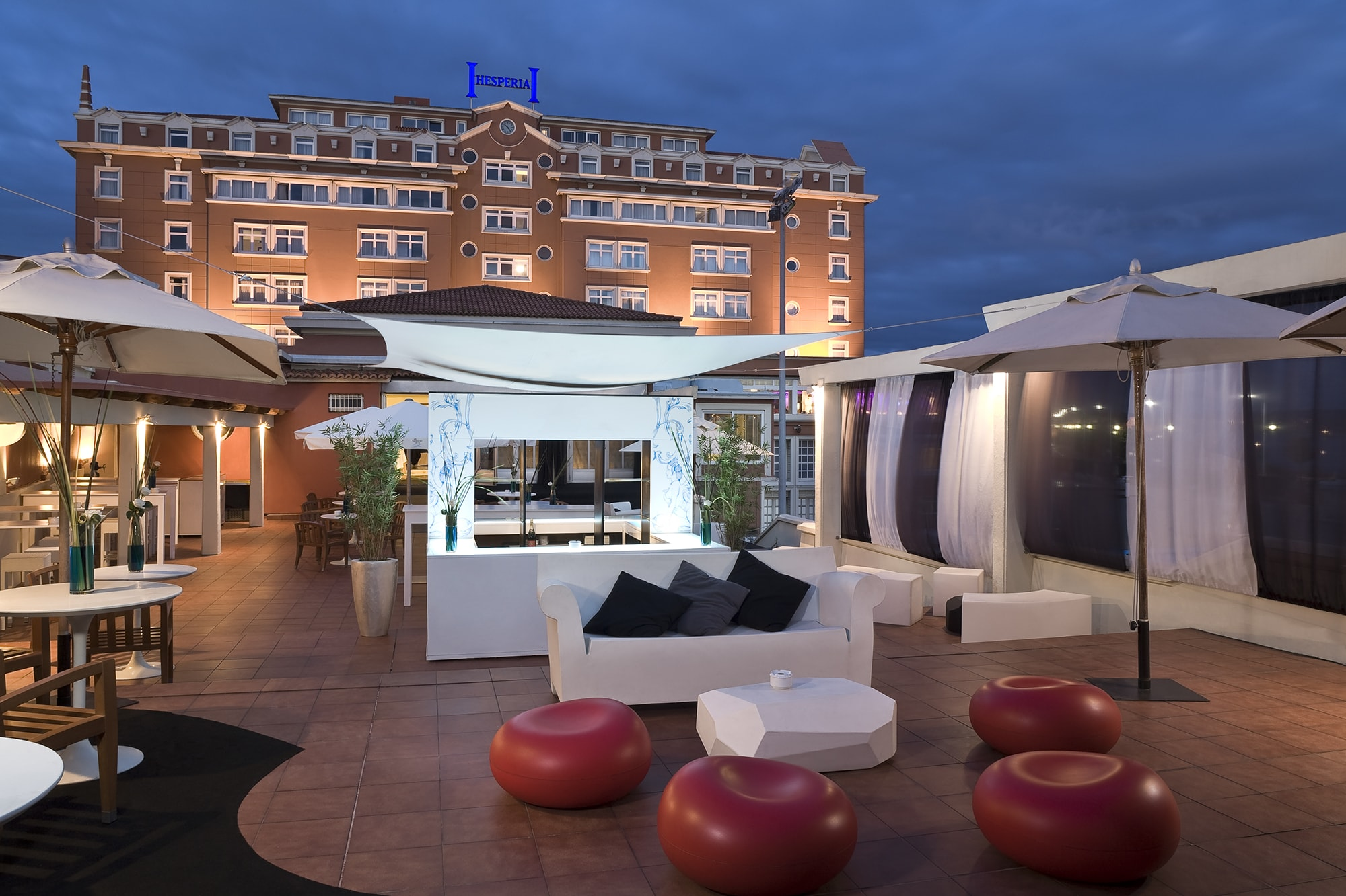 Terraza del Hotel Hesperia A Coruña Finisterre