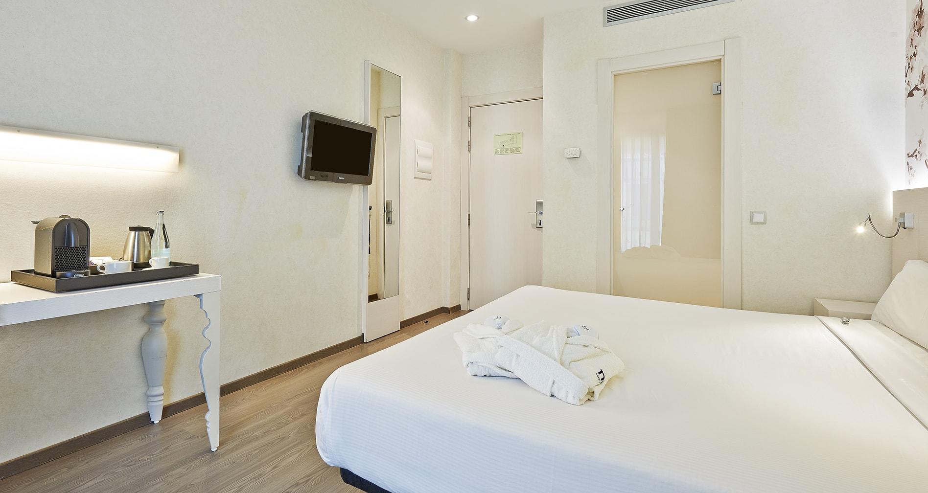 Habitación del Hotel Hesperia Barcelona Ramblas