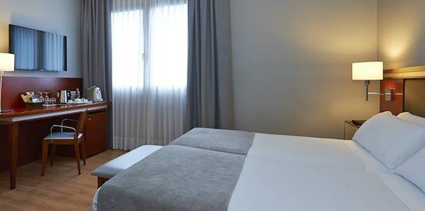 Habitación standard individual del Hotel Hesperia Zubielde